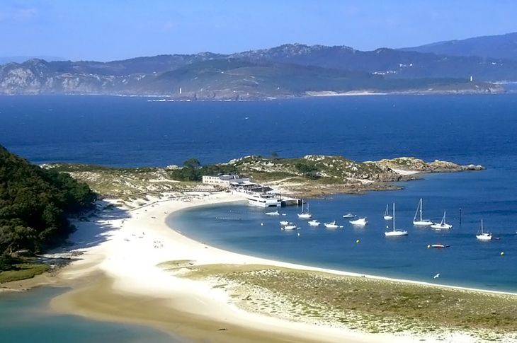 Praia de Rodas nas Illas Cíes
