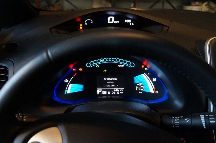 Cadro dun coche eléctrico