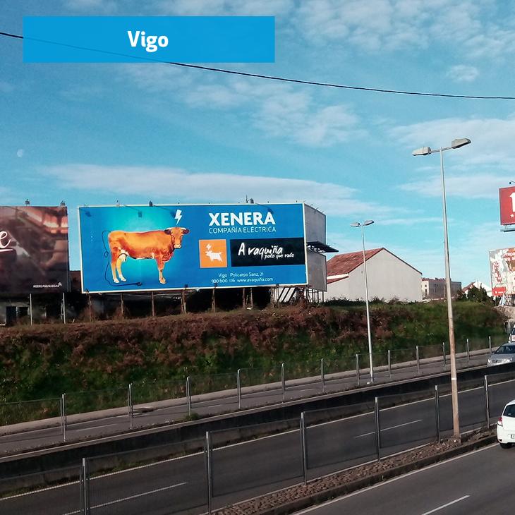 Valla publicitaria de XENERA en Vigo
