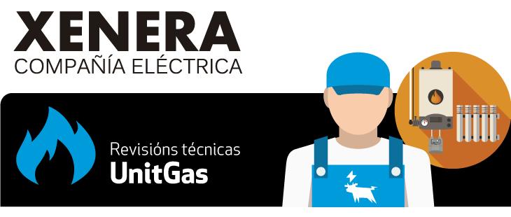 UnitGas é o servizo de mantemento de gas de XENERA