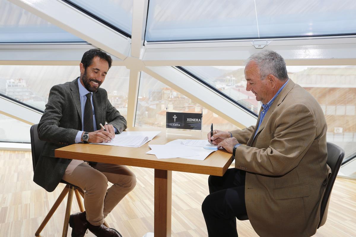 Firma do acordo de patrocinio de XENERA Compañía Eléctrica e o RC Celta