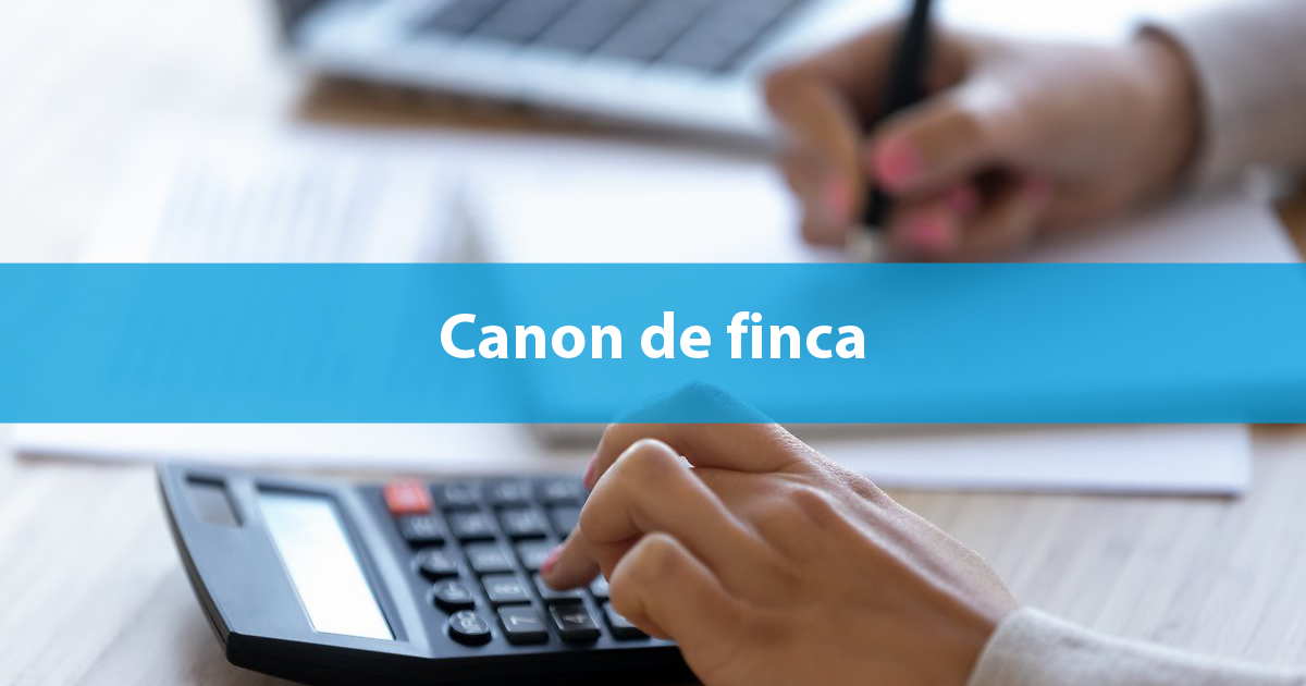 Canon de finca IRC factura gas
