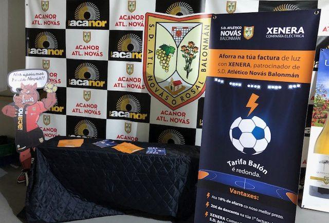 XENERA Compañía Eléctrica, patrocinador da S.D. Atlético Novás